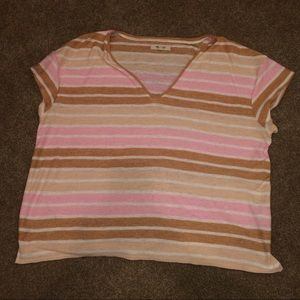 Striped V-neck Madewell Tee